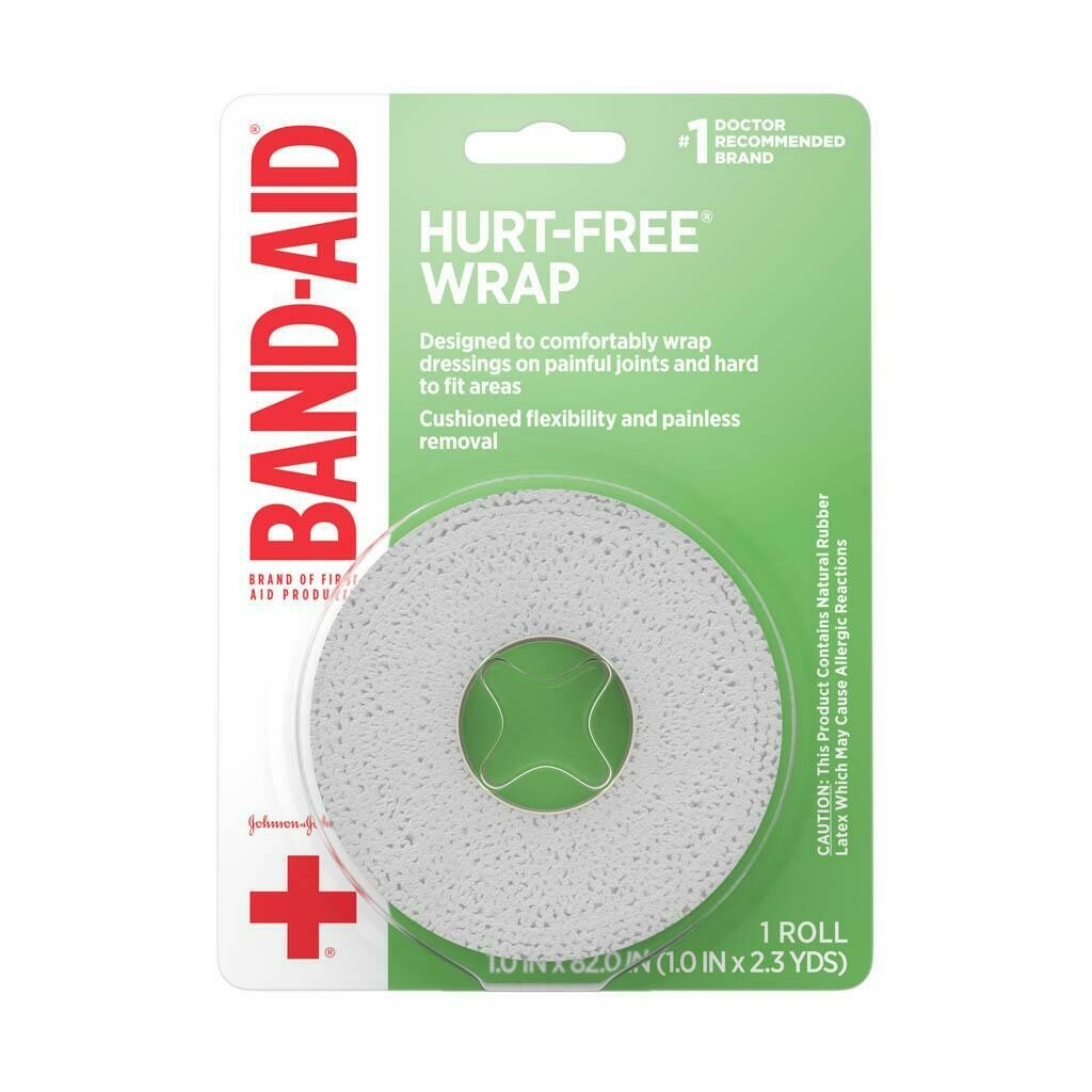 BAND-AID® Brand HURT-FREE® Wrap 1INX2.3YDS, 1 COUNT