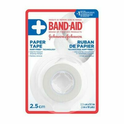 Band-Aid Paper Tape, 2.5 cm x 9.1 m