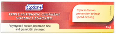 Triple Antibiotic Ointment 15 grams (Generic Polysporin)