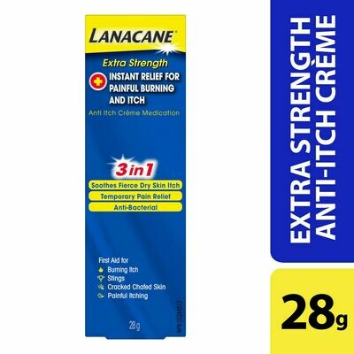 Lanacane Extra Strength Anti-Itch and Burn Cream 28g