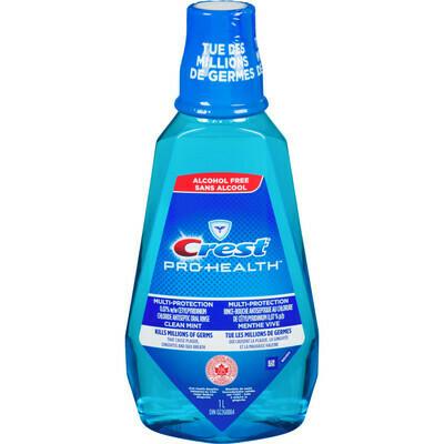 Crest Pro-Health Multi-Protection Alcohol Free Mouthwash, Clean Mint, 1 L