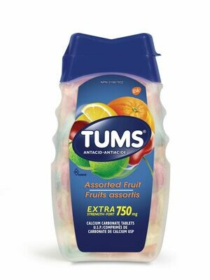 Tums Extra Strength 750 mg Antacid Assorted Fruit OR Berry