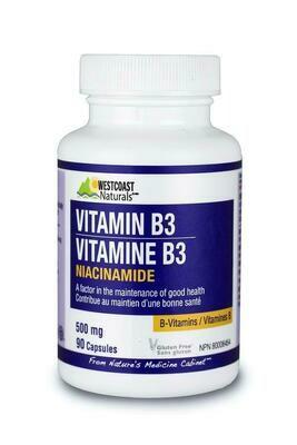 Vitamin B3 (Niacinamide) 500mg x 90