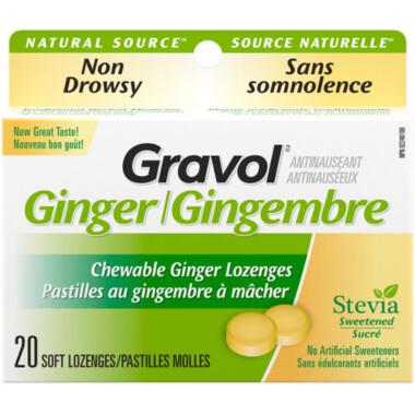 Gravol Natural Source Ginger Lozenges x20