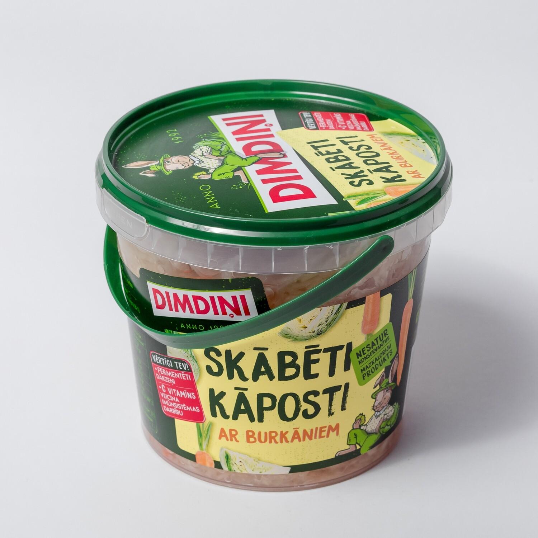 SKĀBĒTI KĀPOSTI AR BURKĀNIEM 1kg