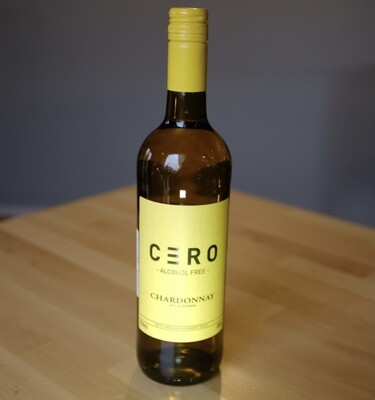 CERO. CHARDONNAY OF CALIFORNIA. ALCOHOL FREE 750ml