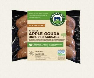 Niman Ranch Apple Gouda Sausage 12 Oz