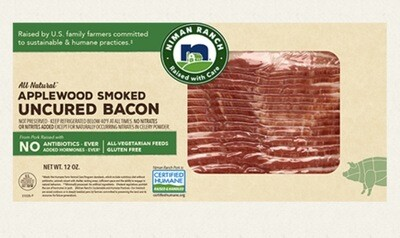 Niman Ranch Uncurled Applewood Smoked Bacon 12 Oz