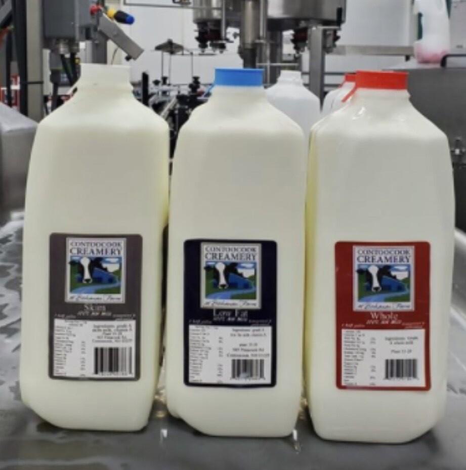 Contoocook Creamery Low Fat Milk - 1/2 Gallon
