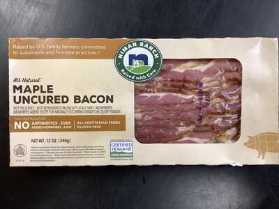 Niman Ranch Uncured Maple Bacon 12 Oz