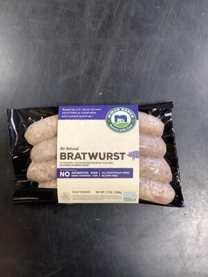 Niman Ranch Bratwurst 12 Oz