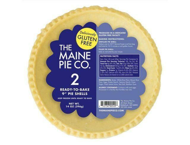 "9"" Gluten Free Pie Shells - 2 Pack - Frozen"