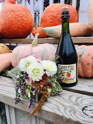 Hard Cider & Fresh Flower Gift Bag