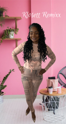 Stitched Korsett Jumpsuit