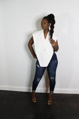 Jewelry Shirt Vest ( White)