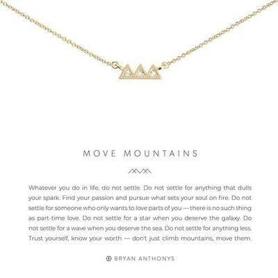 Move Mountains Necklace - Gold or Silver
