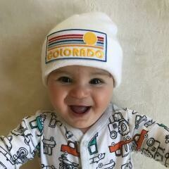 Baby/Toddler Patch Beanie - Colorado - Choose From Designs