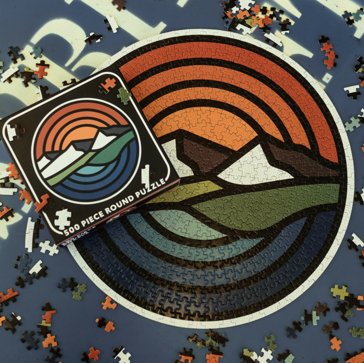 Puzzle - Mountain Sunset Circle