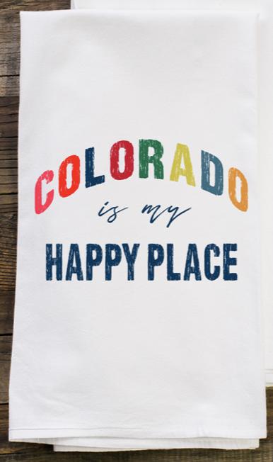 Tea Towel - Colorado is my Happy Place