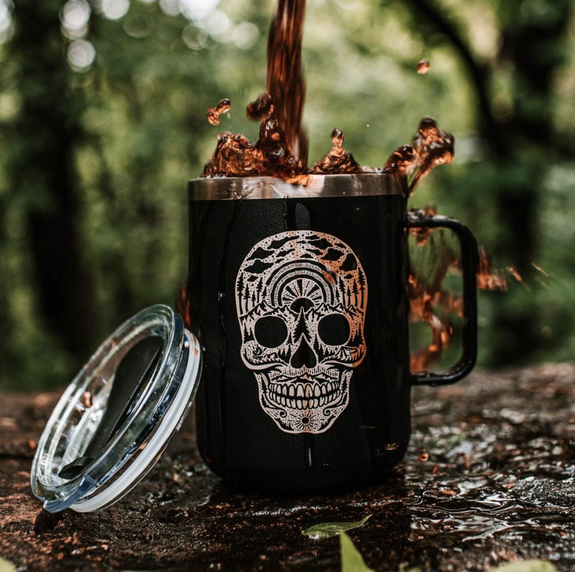 Stainless Steel Camper Mug - Choose From Designs