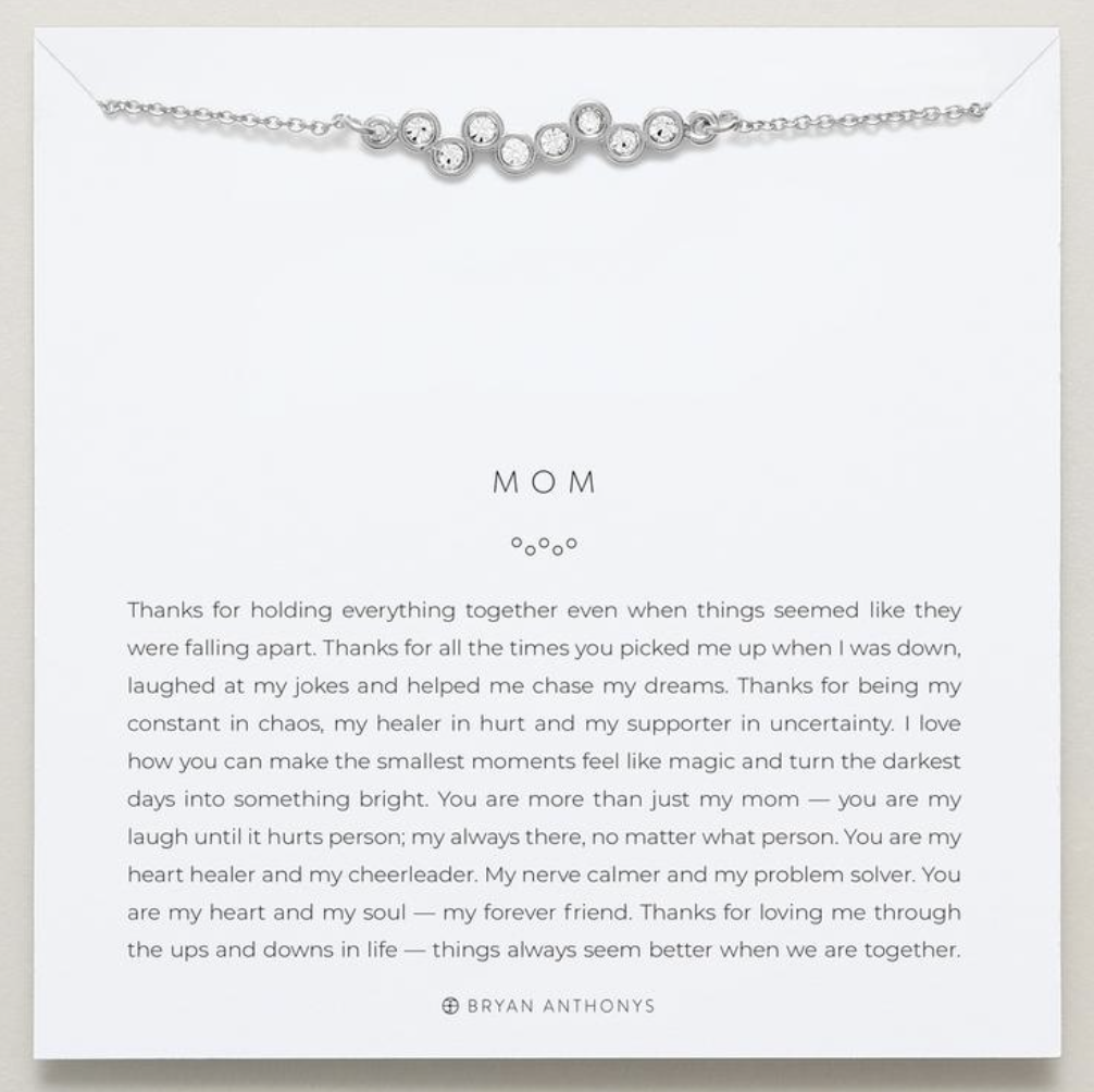 Mom Necklace - Gold or Silver