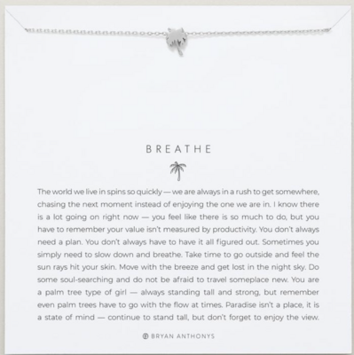 Breathe Necklace - Gold or Silver