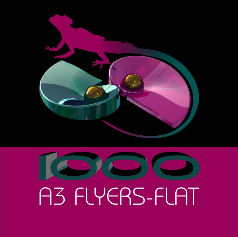 A3 FLYERS FLAT 1000