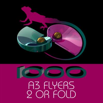 A3 FLYERS 3 FOLD 1000