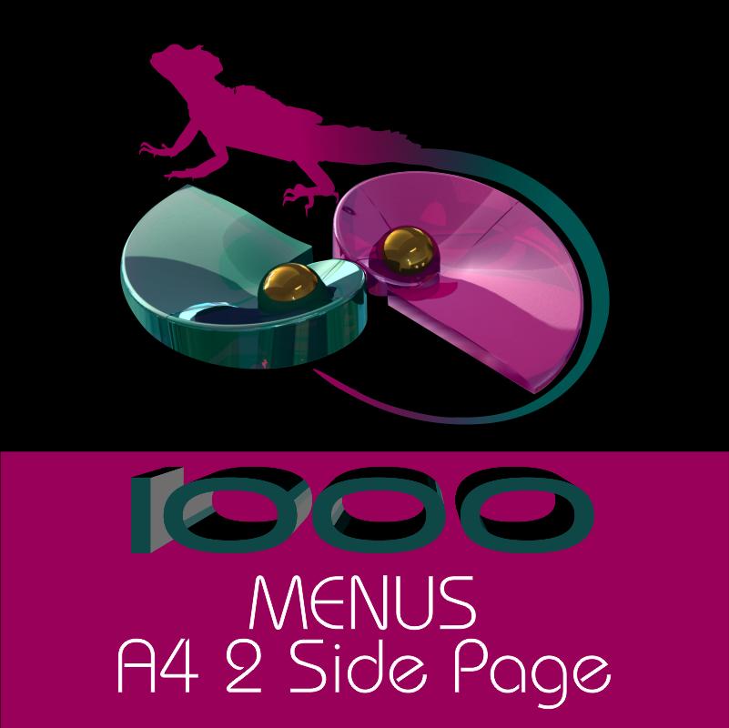 A4 Menus 2 Side Page