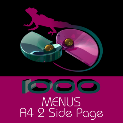 A4 Menus 2 Side Page