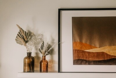 Amber Vase Arrangement