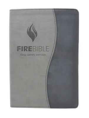 King James Version (KJV) Duo Black/Grey PU Cover