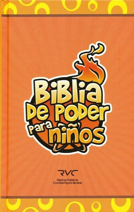 Spanish FireBible for Kids -Reina Valera Contemporanea (RVC) (Biblia de poder para ninos) Orange Hardcover