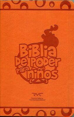 Spanish FireBible for Kids -Reina Valera Contemporanea (RVC) (Biblia de poder para ninos) Orange PU