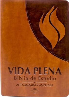 Spanish - Reina-Valera 1960 (RVR) (Biblia de Estudio de la Vida Plena) Brown PU (polyurethane) Cover