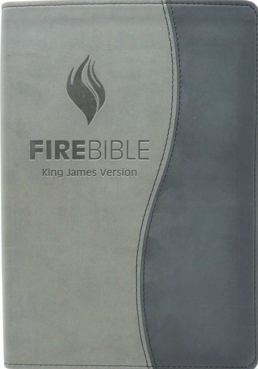 King James Version (KJV) Duo Black/Grey PU (polyurethane) Cover