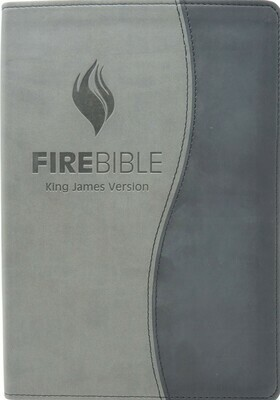 King James Version (KJV) Duo Black/Grey PU Cover