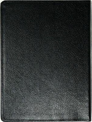 Hebrew (עִברִית) Black Bonded Leather Cover