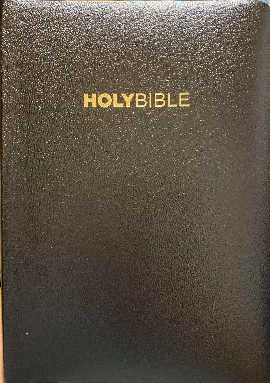 King James Version (KJV) Black Bonded Leather