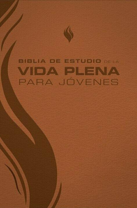 Spanish Student Edition (RVR - Biblia de estudio de la vida plena para jovenes, piel marron) Brown Imitation Leather Cover