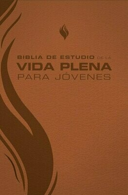 Spanish Student Edition (RVR - Biblia de estudio de la vida plena para jovenes, piel marron) Brown Imitation Leather Cover