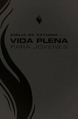 Spanish Student Edition (RVR - Biblia de estudio de la vida plena para jovenes, piel negro) Black Imitation Leather Cover