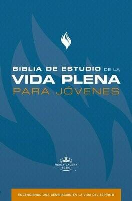 Spanish Student Edition (RVR - Biblia de estudio de la vida plena para jovenes, azul) Blue Hardcover