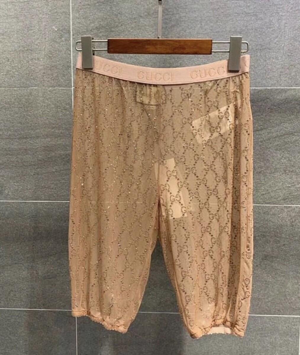 GG Embellished Sheer Shorts