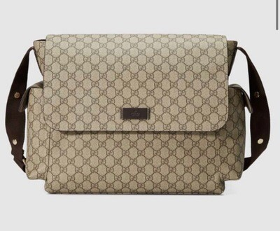GG LEATHER DIAPER BAG