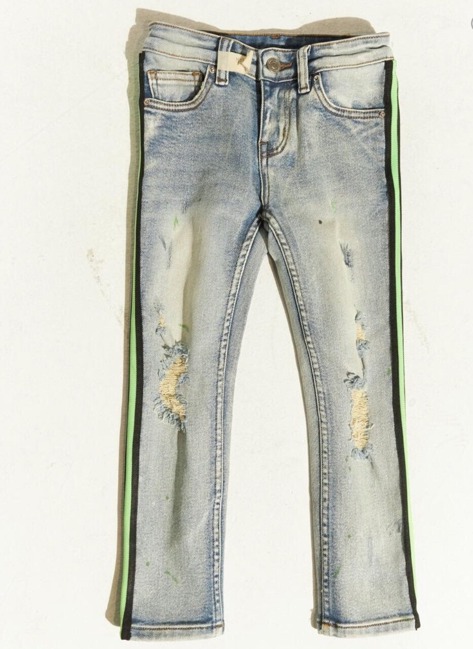 LEONARD STRIPED DENIM (GRE