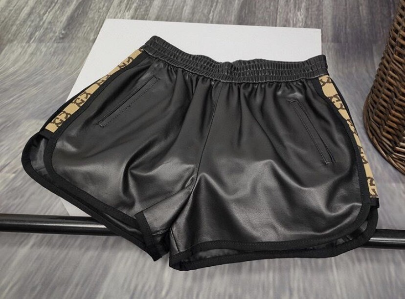 GG LEATHER SHORTS