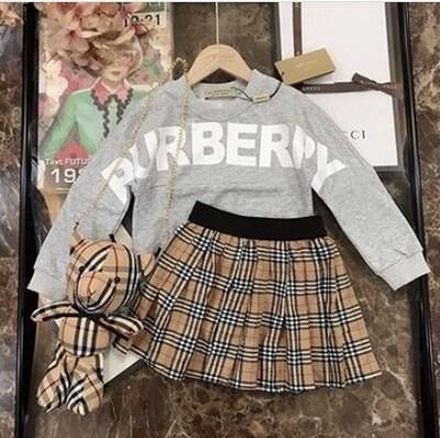BURBERRY Skirt  & Purse Set