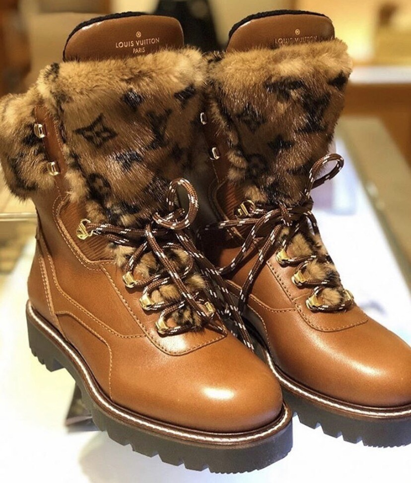 LV FUR LEATHER BOOT