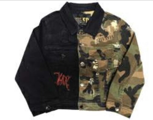 KLEEP JACKET HALF & HALF Black/Camo